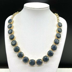 Banana Republic Blue Gray Rhinestone Necklace